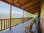Side porch w/ view