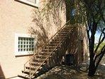 Private staircase to condo