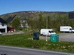 The mountain 'Åsefjellet'. Height 405 meter.