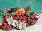 Les fruits  de saison de l'Ile de La Réunion