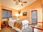 Master Bedroom with Queen Bed & Flatscreen TV, Walk in Closet