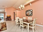 Dining Table with Seating; Newly Refurbished; Perfect for Home Cooked Meals!