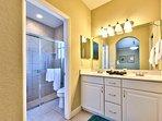 Master Bathroom with Double Vanity; Walk in Shower!