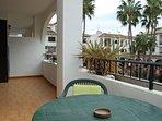 Large balcony with views into the Villamartin Plaza