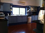Huge kitchen with 6 burner hob and extra large oven, everything you need is there
