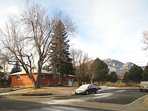 View of our home under Bear Mountain and the Flatirons