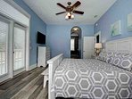 1st Floor Master Suite also features patio access and flatscreen TV