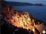 The stunning, outdoor Minack Theatre; an absolute must with performances throughout the Summer