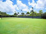 On-site: Four all-weather flood lit tennis courts