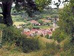 Village de Saint-Jean d'Alcapiès vu du château