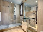 Beautiful modern bathroom shared by bedrooms 2 and 3.