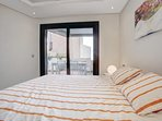 You can access the balcony directly from the en-suite bedroom...