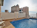 Private swimming pool on the roof with ample terraces and stunning sea views!