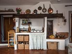 Traditional Italian galley kitchen