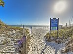 Crystal Sands Beach is only footsteps away!