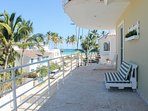 Big balcony full furnished, overlooking the ocean!