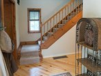 Stairs to the upstairs bedroom.