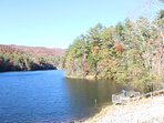 fishing deck at Unicoi State Park 1.5 miles from cabin. Lake Burton 11 miles