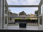 Kitchen window to back deck