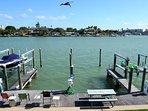Intercoastal view & out back fishing docks.
