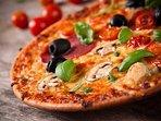 Freshly stone bake pizzas available locally