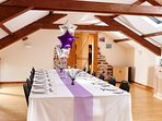 The Hayloft, function room at Newhouse Farm Cottages