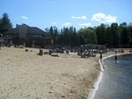Main lodge beach