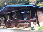 The Blue Lodge caters for 5 persons, set in 7 acres of Broadleaf woodland