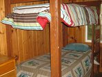 Bunk beds available plus two seperate bedrooms.