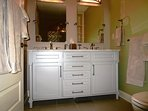 The double vanity in the master provides plenty of storage.