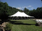 Wedding event tent example