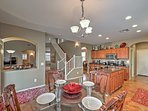 Prepare home cooked meals in the fully equipped kitchen.
