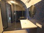 modern bathroom with large shower