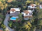 Aerial view of Solana B&B or villa rental