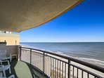 Spectacular view of the beach and ocean from this 14th floor balcony.  This isn't a model unit, this is the view you...