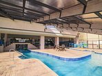 Indoor lazy river and recreation for year 'round enjoyment.