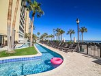 Oceanfront lazy river and sundeck at The Breakers Paradise Tower