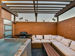Your Private SPA with Hot Tub on your private Patio at Villa