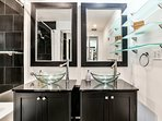 Master Suite Bathroom with Contemporary Modern Design