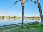The Resort Lake just outside villa