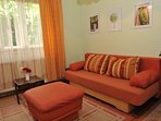 Living room area with sofa bed 160x200cm