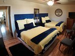 Two New Queen Beds and Bedding with Extra Pillows in the large walk in Closet, 32' TV & DVD Blu-Ray