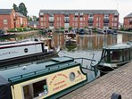 Market Harborough Canal marina.