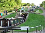 Nearby Foxton canal locks.