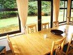 The dining room enjoys good light