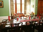 There is an understated elegance in the dining room