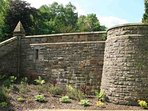 Castle fortifications in the garden