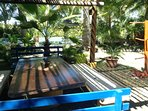 Back at our shaded, outdoor eating area - seats up to 12.