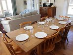 Enjoy a relaxed family meal in the open plan dining room