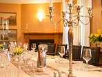 Whether its a slap up meal or a formal banquet, enjoy socialising in the dining room with a table that seats 20